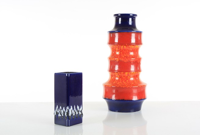 Schlossberg Electric Blue Lava Vase