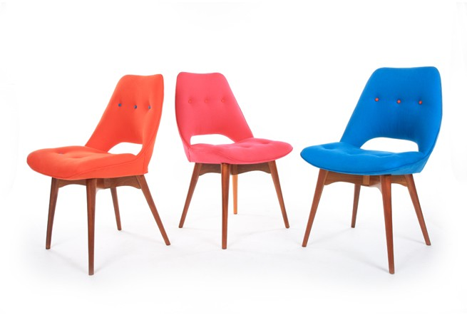 Three Featherston Contour Chairs