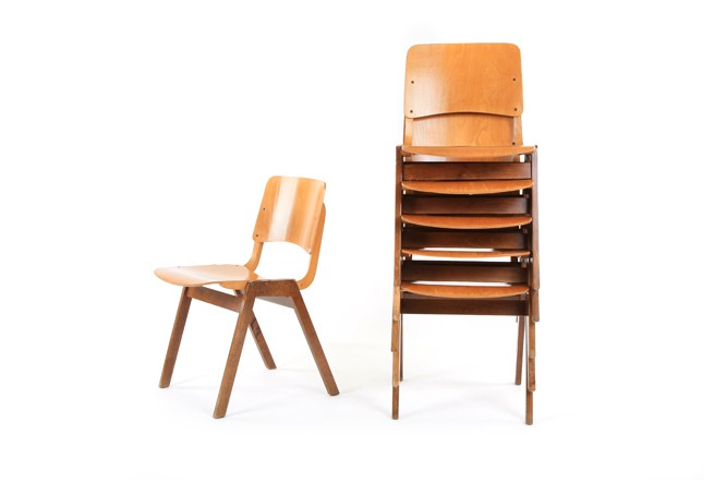 Plywood Stack and Link Chairs