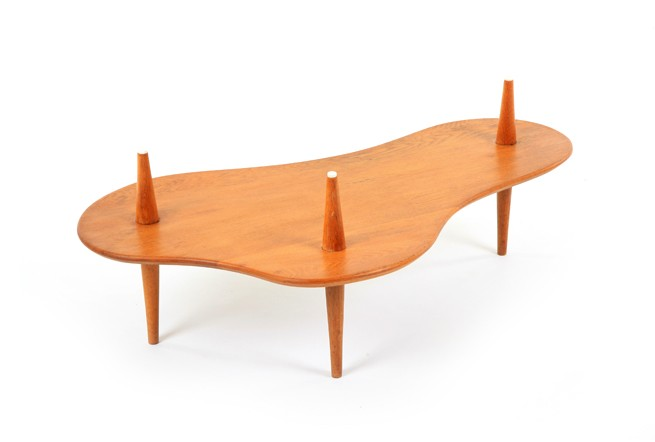 Mid Century Oak Cloud Table