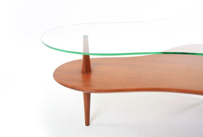 Mid Century Mahogany Cloud Table
