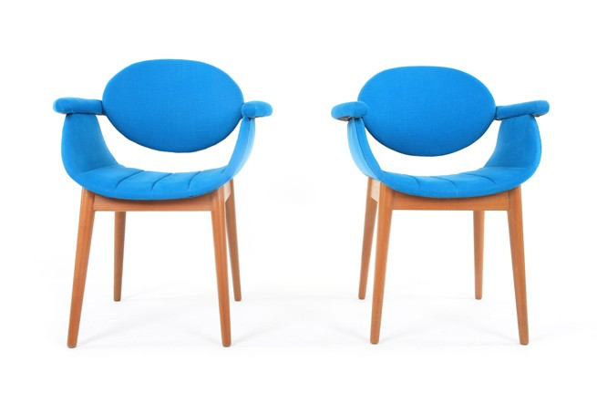Mid Century Sculpted Occasional Chairs