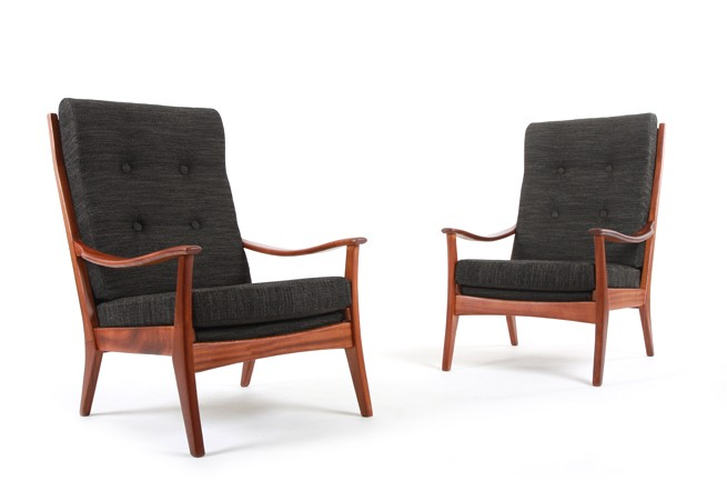 Mahogany Morgan Armchairs