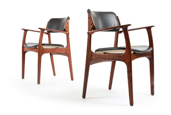 Six Erik Buch Rosewood Dining Chairs