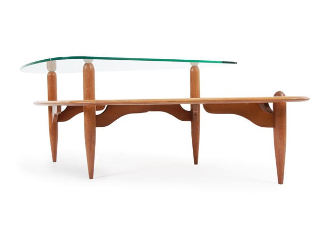 Organic Oak and Glass Coffee Table