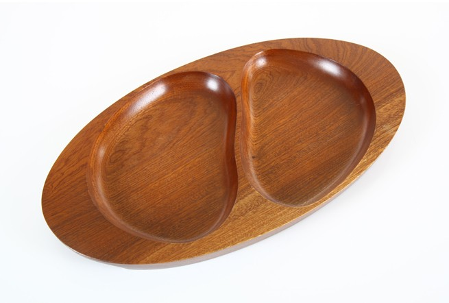 Divided Mahogany Tray