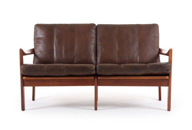 Illum Wikkelso Two Seater Leather Sofa for Eilerson