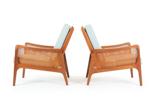 Pair of NZ Made Ole Wanscher Armchairs