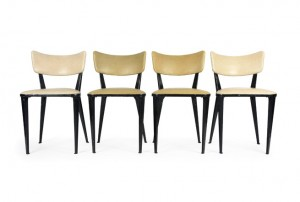 Four Ernest Race BA3 Dining Chairs