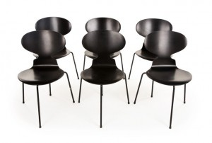 Arne Jacobsen Ant Chairs and Table