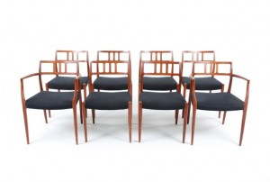 Eight Moller Dining Chairs