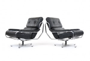 Pieff 'Alpha' Leather Armchairs