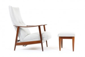 Danske Mobler 'Rock n Rest' Chair and Ottoman