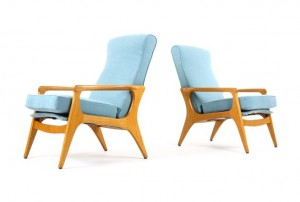 Pair of Fler SC58 Armchairs