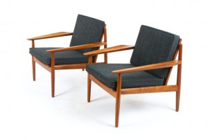 Pair of Arne Vodder Armchairs for Glostrup