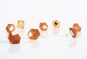 Faceted Earrings by GH Design