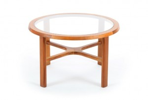 Round Teak Coffee Table by Nathan