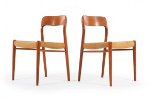 Six Moller Model 75 Dining Chairs
