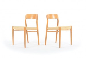 Four Moller Model 75 Dining Chairs