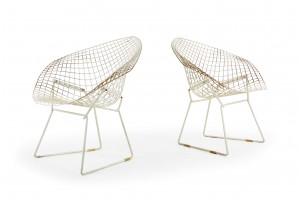 Pair of Harry Bertoia Diamond Chairs