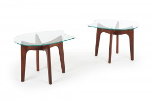 Adrian Pearsall Walnut Side Tables