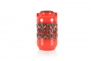 Jasba Red Relief Vase
