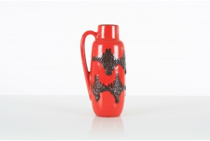 Scheurich Glossy Red and Black Jug