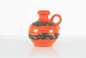 Walter Gerhards KG Keramik Orange/Black Vase