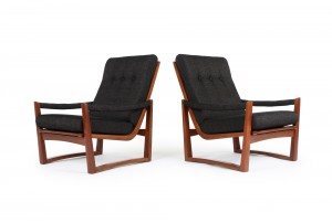 Pair of DON Trapezoid Armchairs