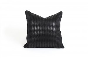 55cm Black Houndstooth Cushion