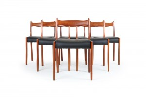 Six Fred Lowen 'Series 64' Dining Chairs