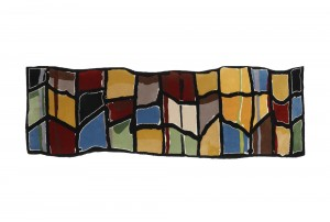 Martin Poppelwell 'Long Grid – Stained Glass Study' Rug for Dilana