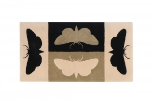 Richard Killeen Moth Rug (Cream) for Dilana