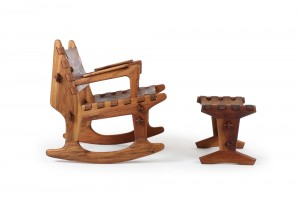 Angel Pazmino Rocking Chair and Ottoman