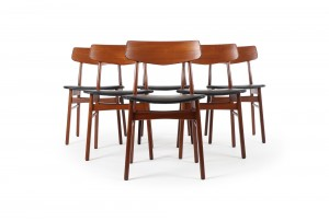 Six Farstrup Spade Back Dining Chairs