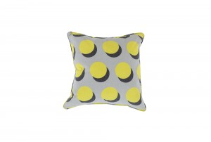 Deluxe 45cm Yellow Atom Cushion