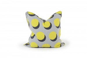 Deluxe 55cm Yellow Atom Cushion