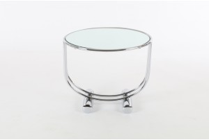 1970s Deco Inspired Chrome Side Table