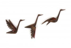 Large Burwood Flying Ducks Wall Sculpture