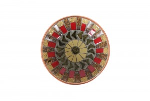 John Crichton Mosaic Tile Dish | Red / Green / Mustard