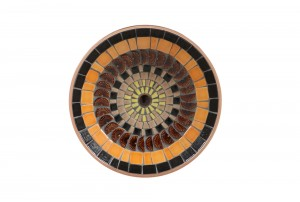 John Crichton Mosaic Tile Dish | Black / Orange / Plum