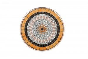 John Crichton Mosaic Tile Flat Plate | Blush / Licorice / Buttercup