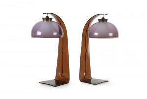 Pair of Pop Era Perspex Table Lamps