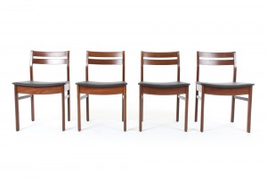 Four White and Newton Dining Chairs