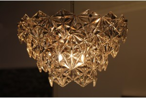 1960s Faceted Crystal Chandelier