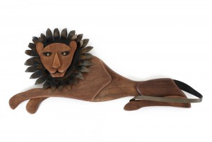 Masketeers Lion Wall Sculpture