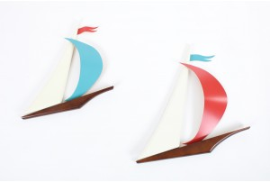 Pair of Masketeers Sail Boats