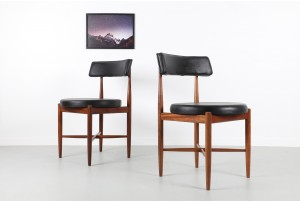 Eight G-Plan 'Fresco' Round Dining Chairs
