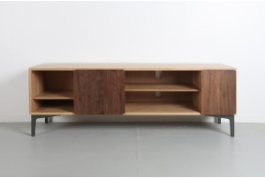 ercol 'Svelto' 133 Media Unit with Walnut Doors