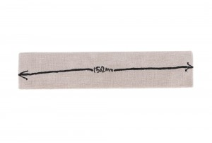 Martin Poppelwell 'Dimension Strip 1502mm' Maquette Rug for Dilana